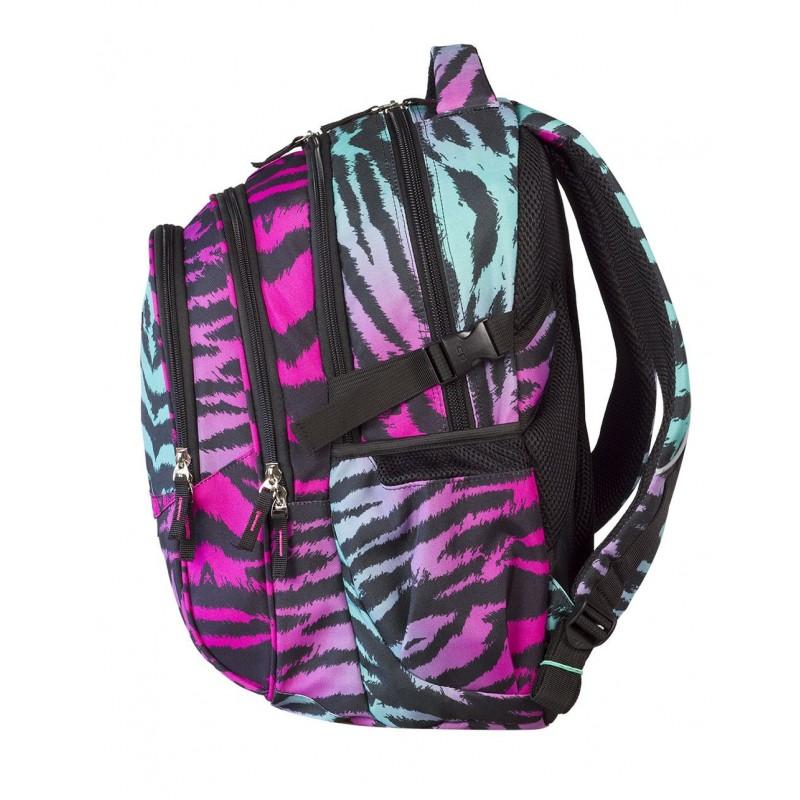 965fd08d61fc2 Plecak szkolny kolorowe serca Coolpack - 4 przegrody FACTOR ZEBRA 434
