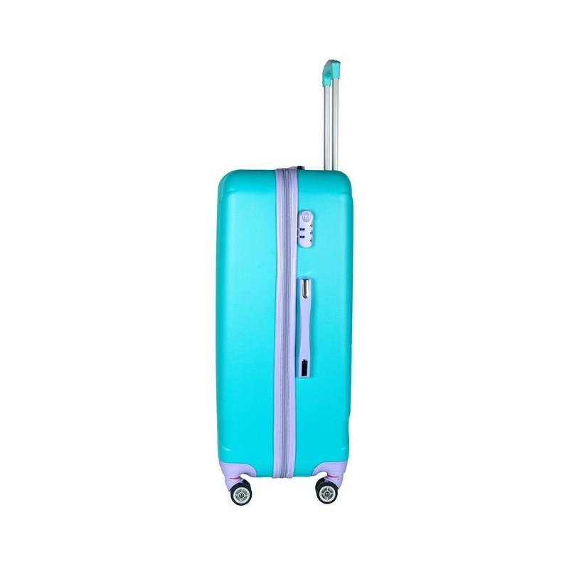 55a11e685e72e Walizka duża niebieska ABS - ePlecaki do szkoły i na wakacje