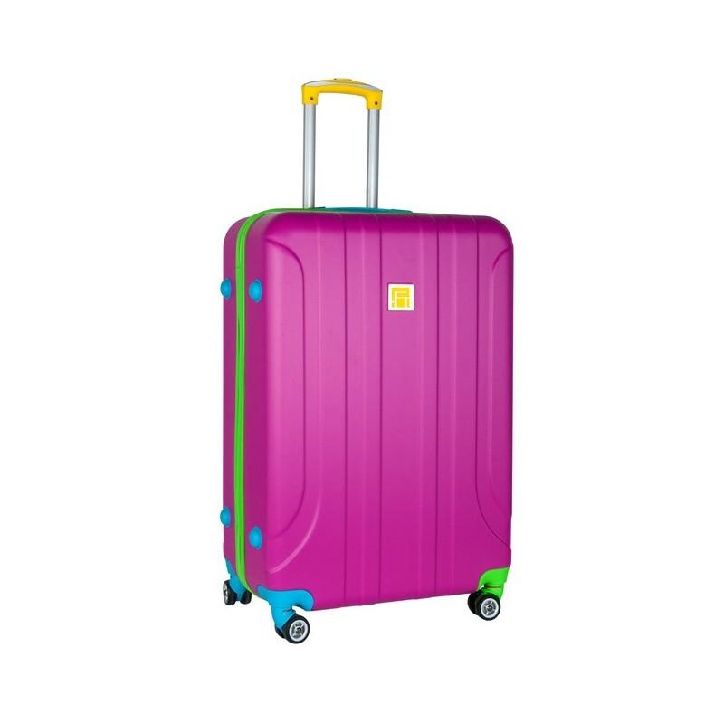 92987be5cd882 Walizka duża różowa ABS - ePlecaki do szkoły i na wakacje
