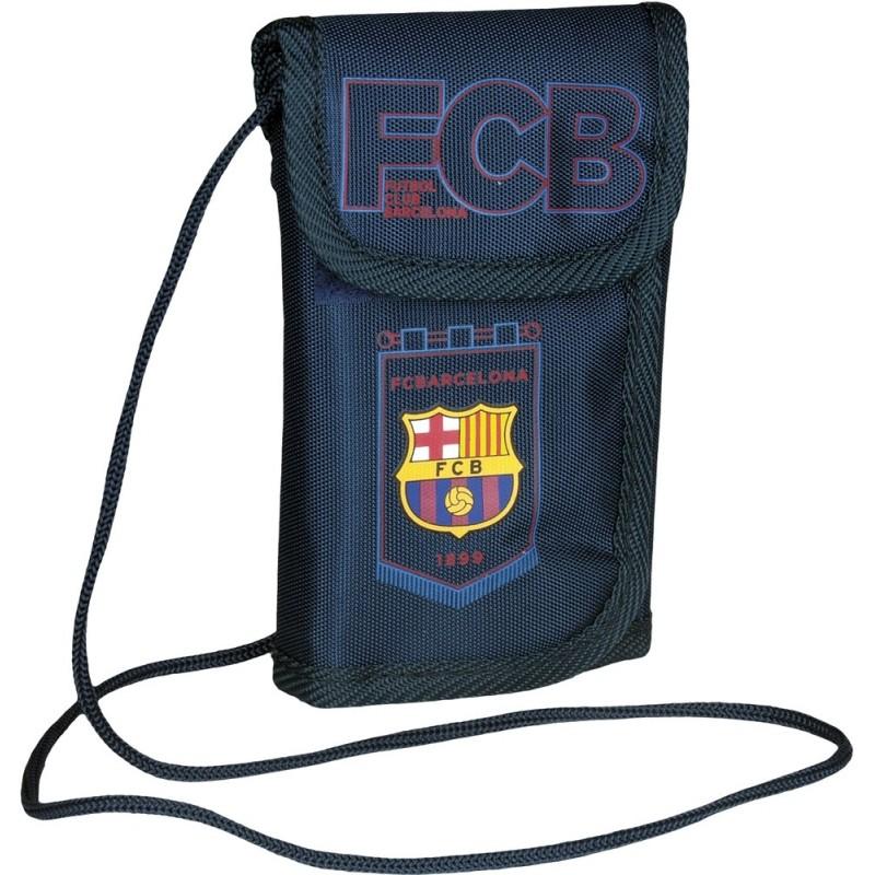 7c313a9441963 Portfel FC Barcelona 2016 na sznurku - granatowy dla chłopca