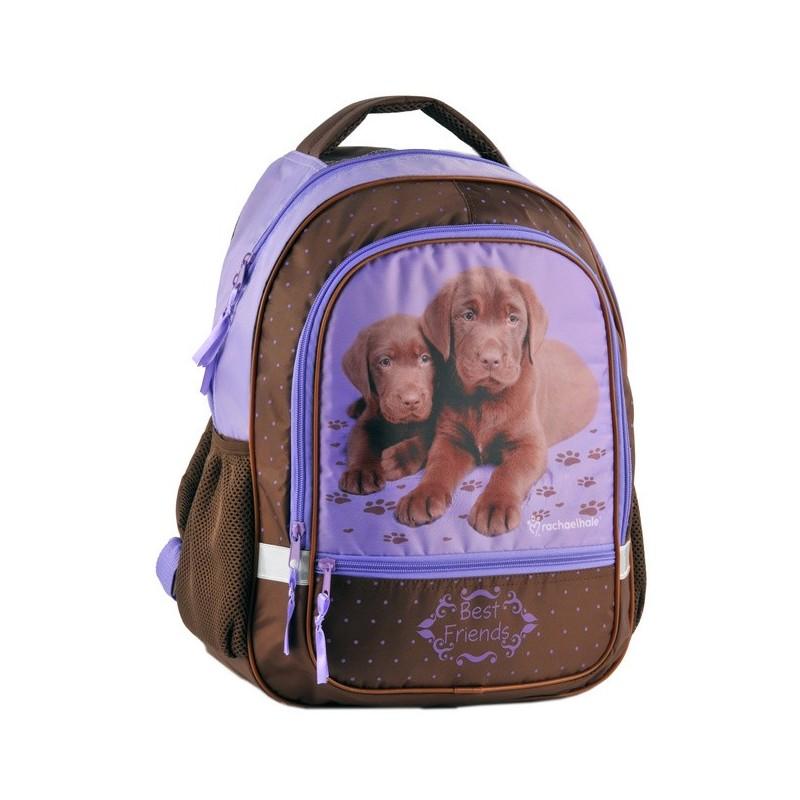 Plecak szkolny Rachael Hale - brązowe pieski