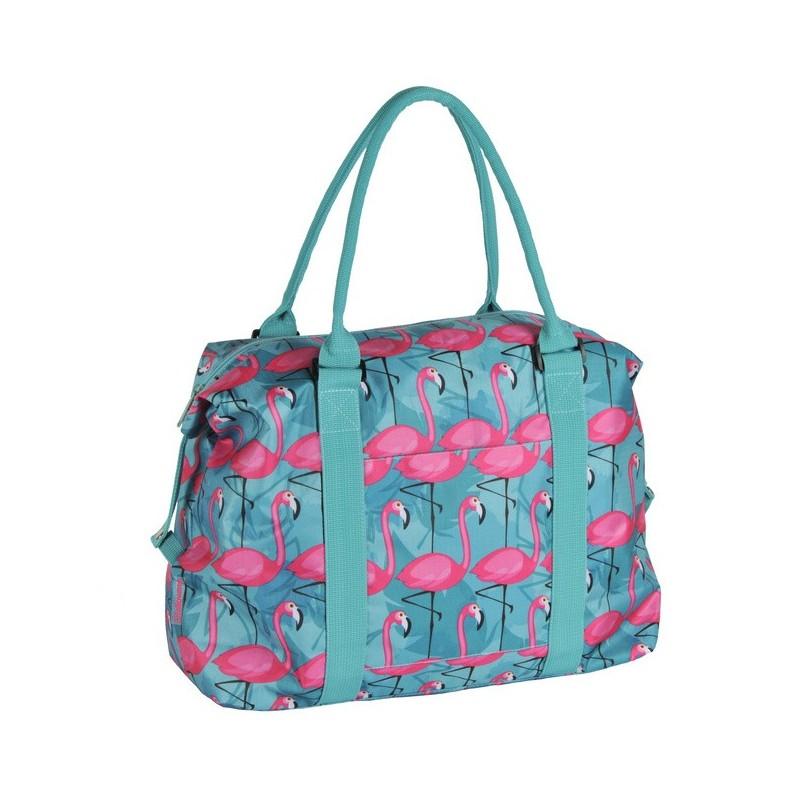 b04fa8a51cbe5 Torba na ramię niebieski z flamingami - ePlecaki do szkoły i na wakacje