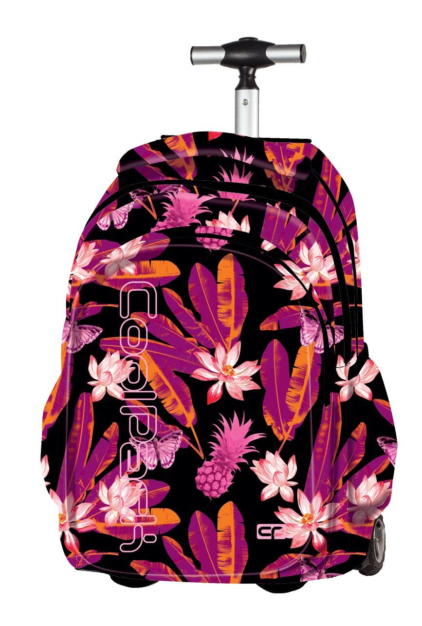 1d7e7702a37f2 Plecak na kółkach Coolpack CP Junior Tahiti czarny w kwiaty