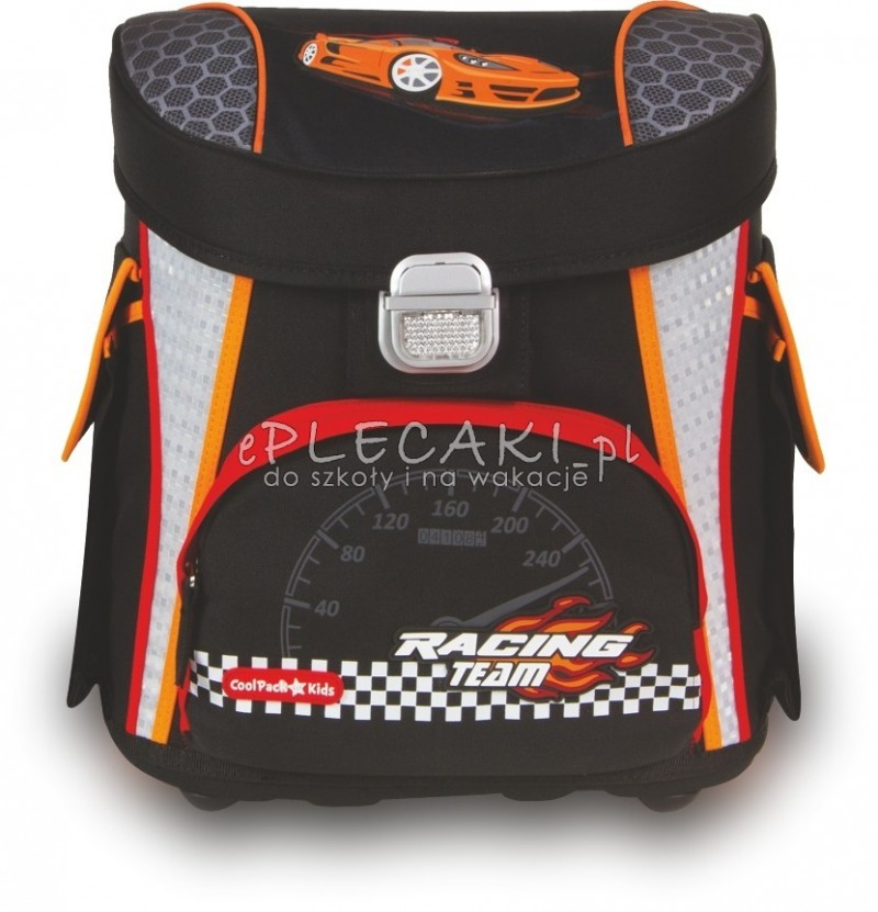 TORNISTER COOLPACK CP RACING CZARNY Z AUTEM