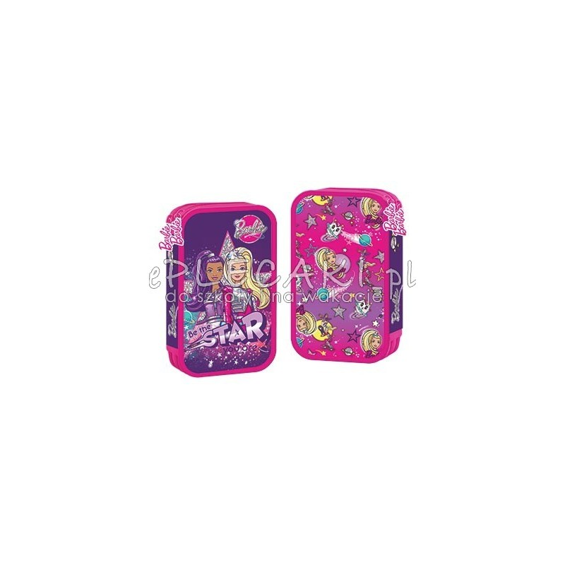 c6ea3e357f65c Piórnik podwójny z wyposażeniem Barbie Star Light dla dziewczynki