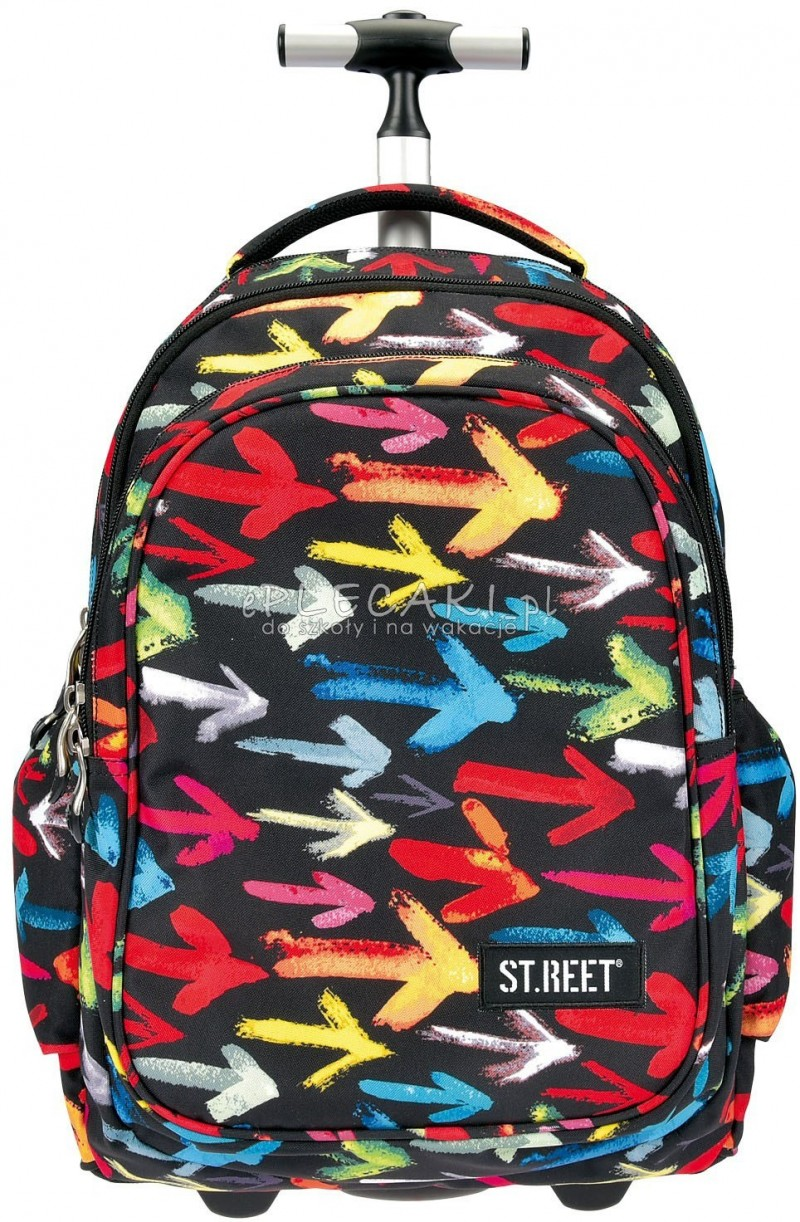 0b78a702ae41c Plecak na kółkach St.Reet Arrows - czarny w strzałki do szkoły