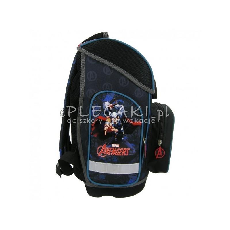 d15b93ca14a31 Tornister szkolny - ergonomiczny dla chłopca - czarny z Avengers