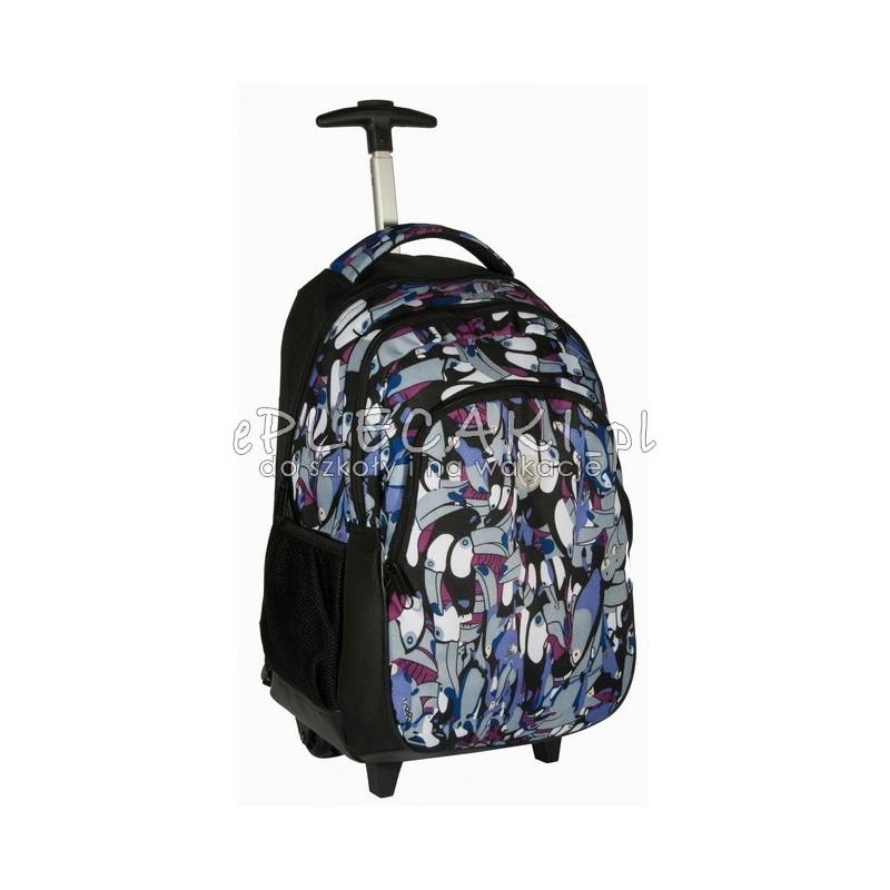 076de2c42c2c0 Plecak szkolny na kółkach dla chłopca lub dziewczynki czarny z tukanami