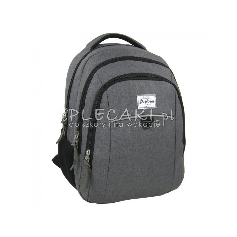 302e9b3caeaa2 Plecak młodzieżowy do szkoły Derform dla dziewzcyny   chłopaka - szary