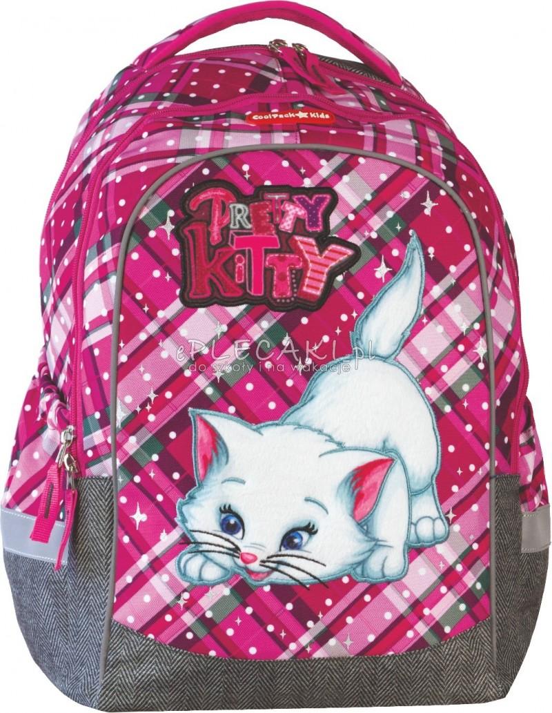 9ff1a5be23699 Plecak szkolny Coolpack CP for Kids dla dziewczynki - różowy z kotem