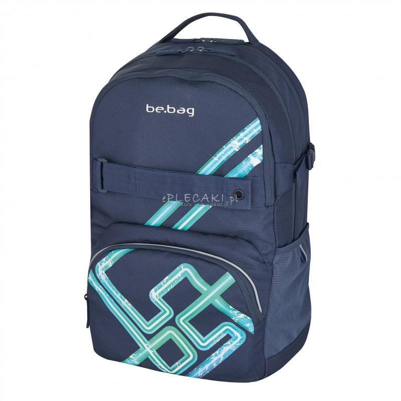 48cfcbaae0127 Plecak szkolny Herlitz be.bag Cube dla chłopca z napisem