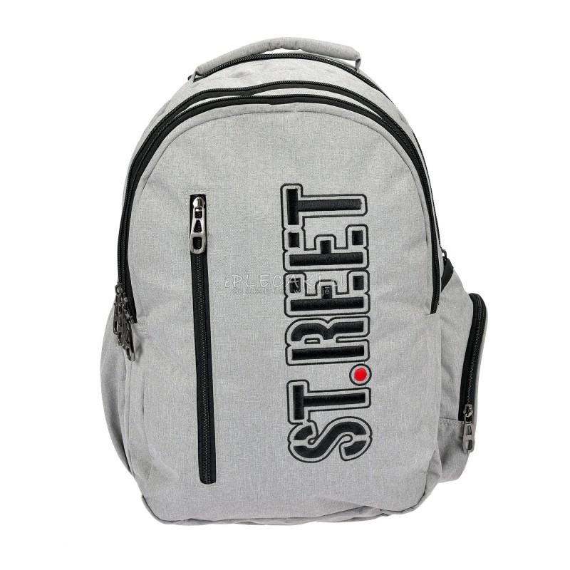 007a632d4ba6e Duży plecak szkolny 12 ST.REET Melange - szary dla chłopaka