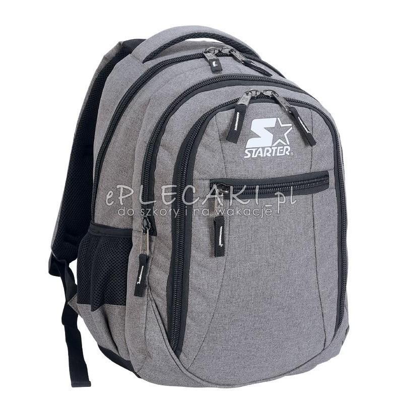 190e2b525c73b Plecak szkolny dla chłopca STARTER 0064 - jasnoszary