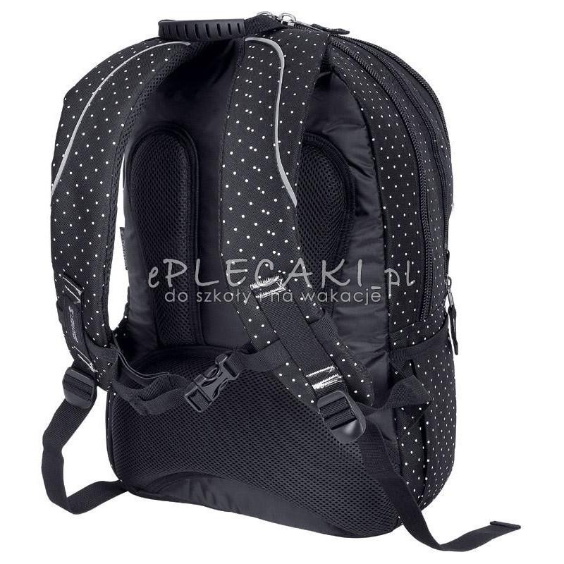 0c236c6907581 Plecak szkolny dla chłopca STARTER 0063 - czarny w kropki