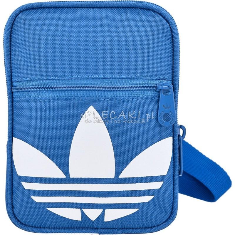 92cf094abaee2 Torebka na ramię Adidas ORIGINALS Festival Bag Trefoil - niebieska