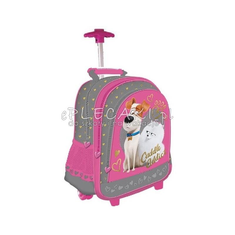 51404739dba08 Plecak szkolny na kółkach dla dziewczynki Sekretne życie zwierzaków ...
