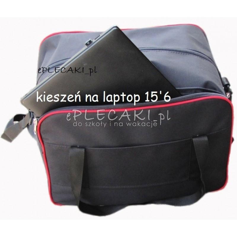 TORBA - bagaż podręczny na laptop - CZERWONA LAMÓWKA
