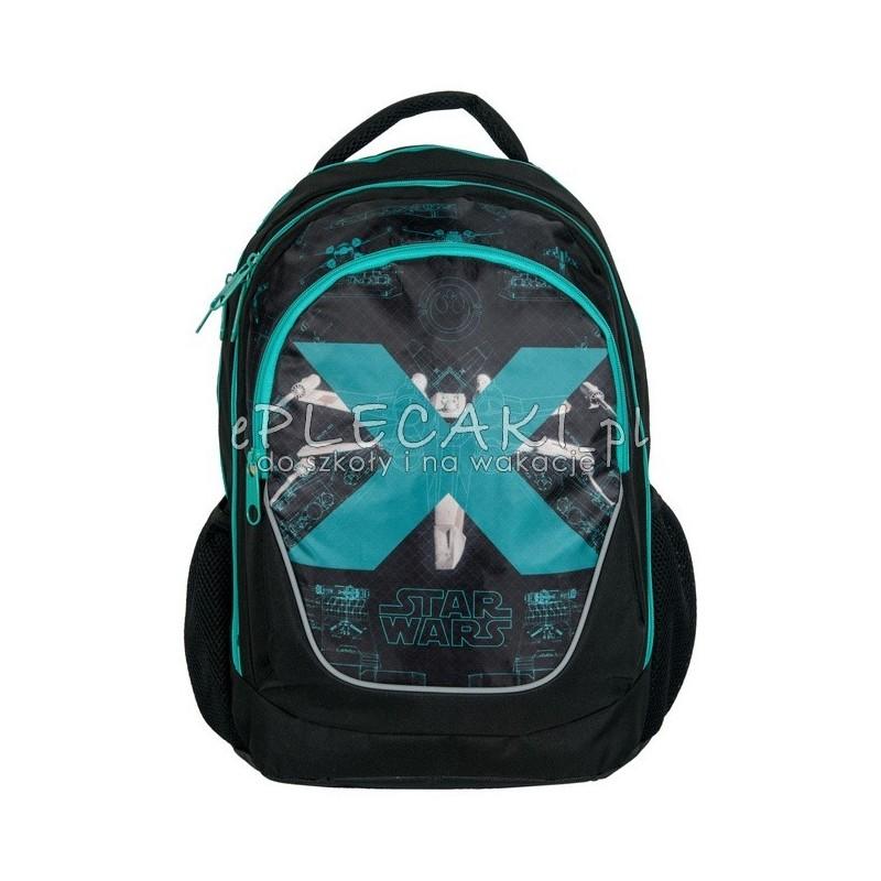 72d4384338425 Plecak szkolny Star Wars / Gwiezdne Wojny - czarny ze statkiem kosmicznym X  Wing