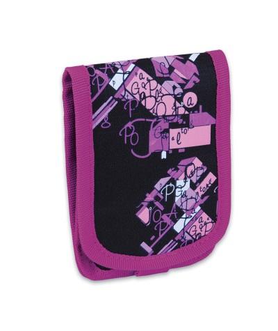 Etui / torebka na szyję Topgal dla dziewczynki CHI646A czarno różowe