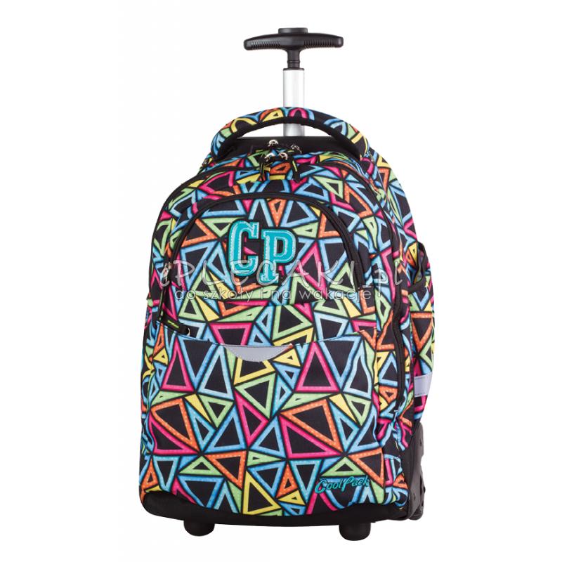 Plecak na kółkach CoolPack CP w kolorowe trójkaty RAPID COLOR TRIANGLES trójkąty dla chłopca dla dziewczynki - duży tornister na