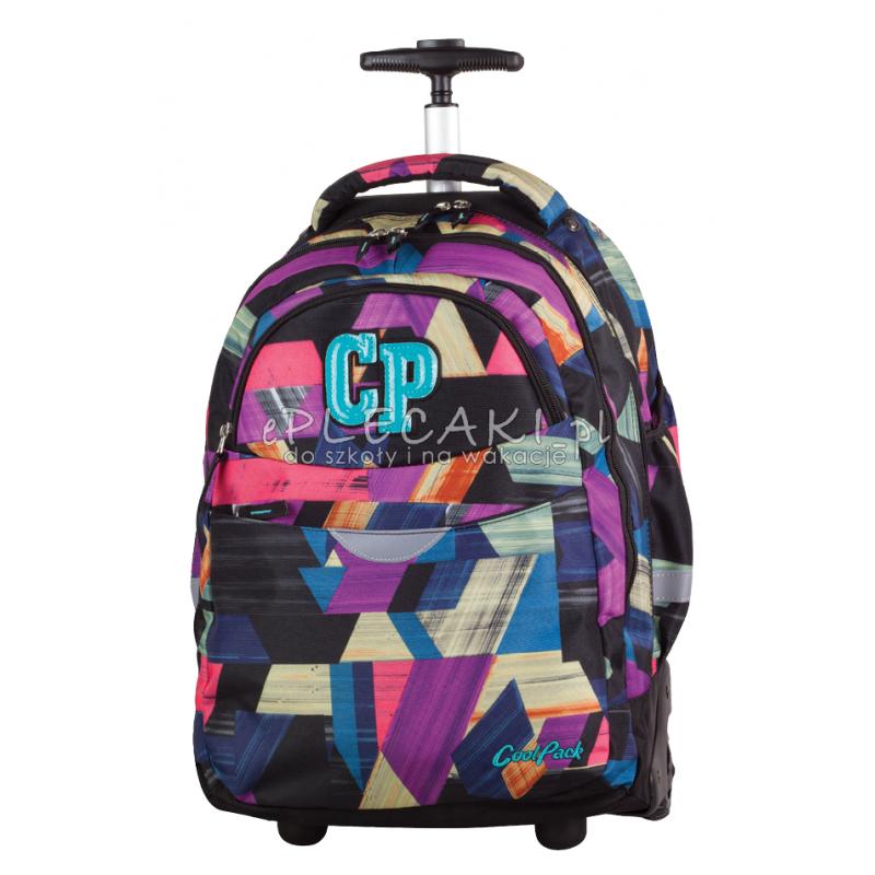 530ddd3db95e3 Plecak na kółkach CoolPack CP kolorowe łatki RAPID COLOR STROKES 673 dla  dziewczynki lub dla chłopca