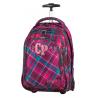 Plecak na kółkach CoolPack CP wiśniowy w kratkę TARGET CRANBERRY CHECK 631