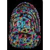 Plecak młodzieżowy CoolPack CP w kolorowe trójkąty - 5 przegród COLLEGE COLOR TRIANGLES 651