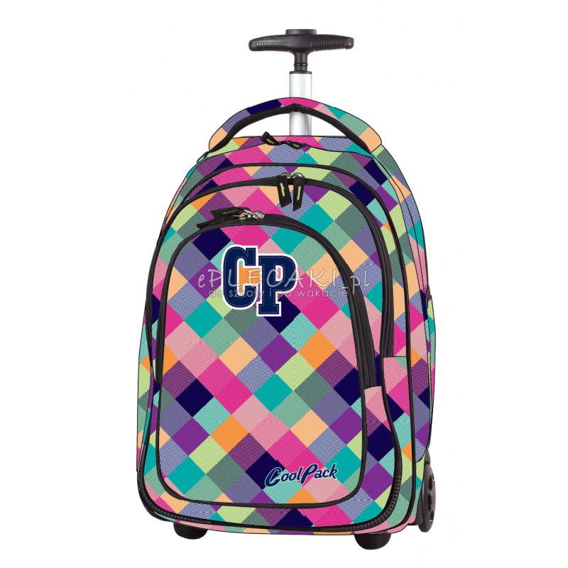 Plecak na kółkach CoolPack CP pastelowe kolory w kratkę TARGET PATCHWORK 1042 dla dziewczynki