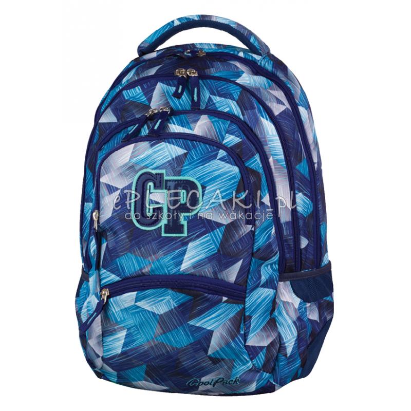 4739dbeca731b Plecak młodzieżowy CoolPack CP niebieskie kryształy - 5 przegród COLLEGE  dla chłopca lub dla dziewczynki -