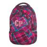 Plecak młodzieżowy CoolPack CP wiśniowy w kratkę - 5 przegród COLLEGE CRANBERRY CHECK 630