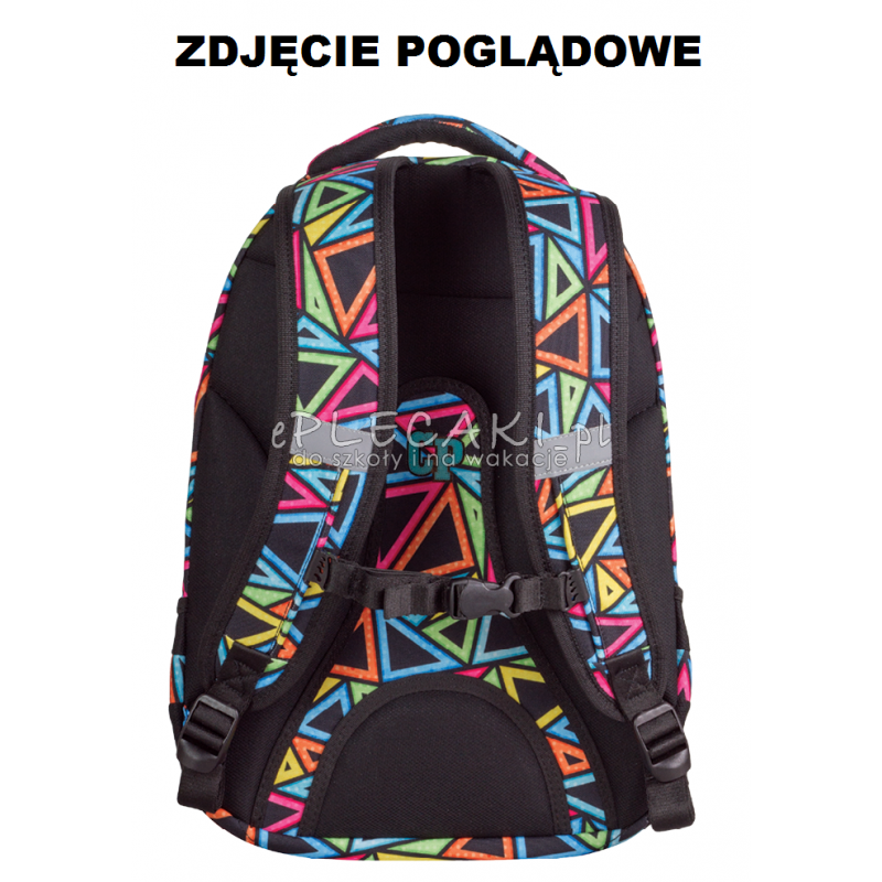 a17b48d359ef8 ... Plecak młodzieżowy CoolPack CP kolorowe łatki - 5 przegród COLLEGE  COLOR STROKES 672 dla dziewczynki