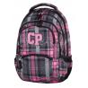Plecak młodzieżowy CoolPack CP szaro-różowy w kratkę - 5 przegród COLLEGE SCOTISH DAWN 693