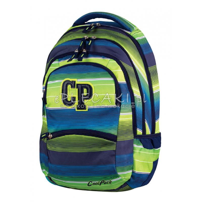 0ae2b32e0c870 Plecak młodzieżowy CoolPack CP zielono-niebieski w paski - 5 przegród  COLLEGE MULTI STRIPES 644