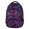 Plecak młodzieżowy CoolPack CP różowo-fioletowy w kratkę - 5 przegród COLLEGE SCARLET 665