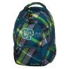 Plecak młodzieżowy CoolPack CP zielony w kratkę 5 przegród COLLEGE VERDURE 623