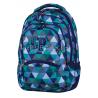 Plecak młodzieżowy CoolPack CP niebieski w trójkąty - 5 przegród COLLEGE PRISM 679
