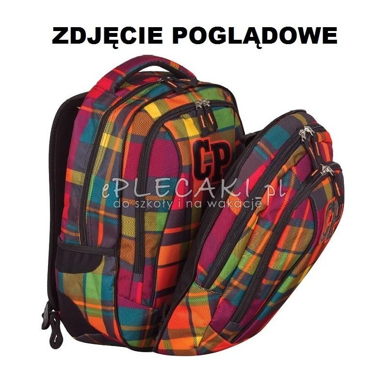Plecak szkolny 2w1 CoolPack CP róż i fiolet w kratkę dla