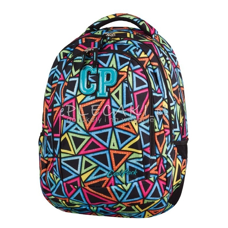 9afa4b62ace1e Plecak młodzieżowy CoolPack CP w kolorowe trójkąty 2w1 COMBO COLOR  TRIANGLES 653 plecak dla dzieci,