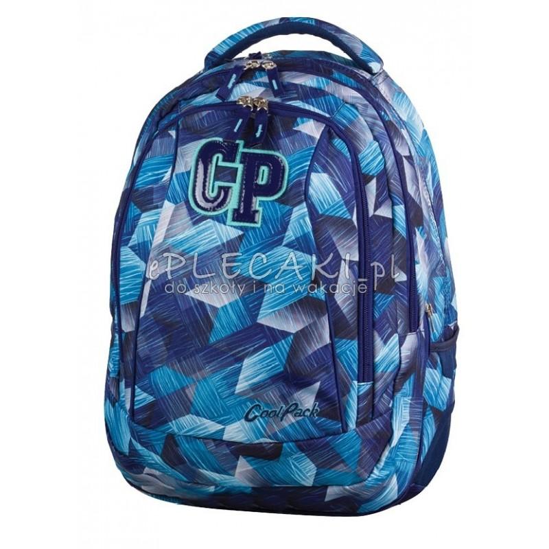 17a701d58260d Plecak młodzieżowy CoolPack CP niebieskie kryształy - 2w1 COMBO FROZEN BLUE  639 - błękitny w kratkę