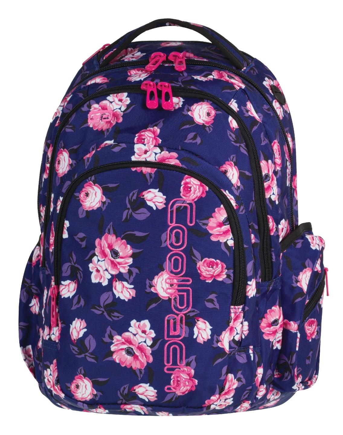 8339d096241f4 Plecak szkolny CP Spark II granatowy w róże dla dziewczynki