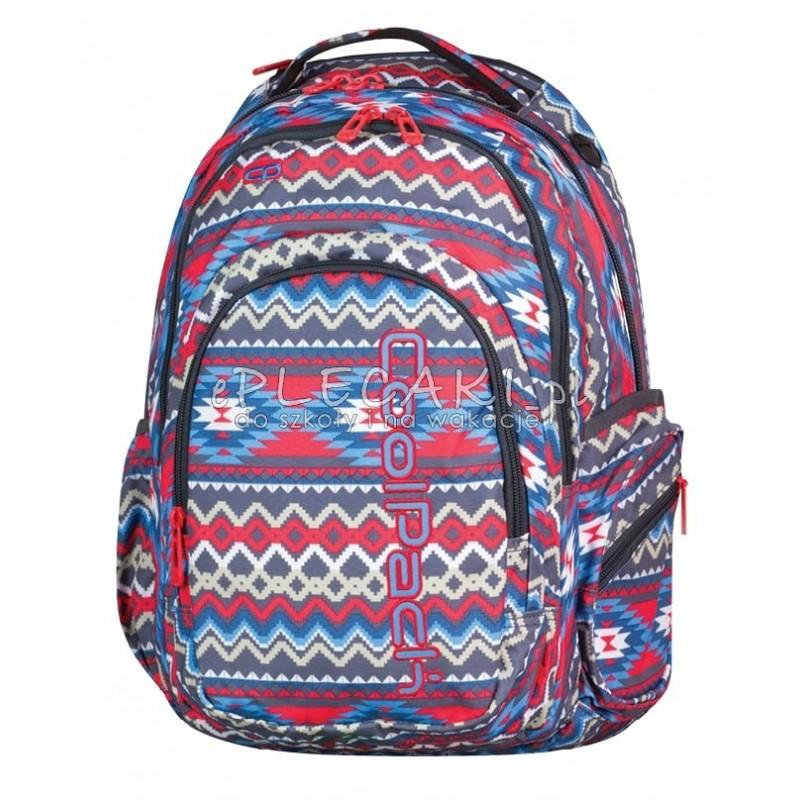15ffd762f7e6e Plecak młodzieżowy CoolPack CP czerwono-niebieski boho SPARK II BOHO BEIGE  802 aztek dla dziewczyny