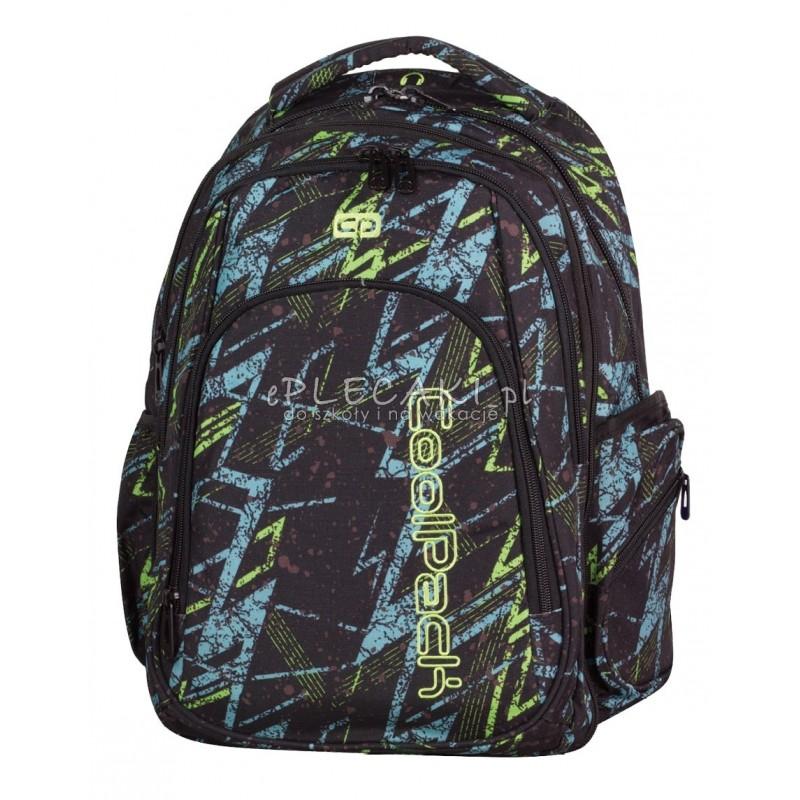 f759cf0f8722b Plecak młodzieżowy CoolPack CP duży - czarny z błyskawicą MAXI LIGHTNING 759