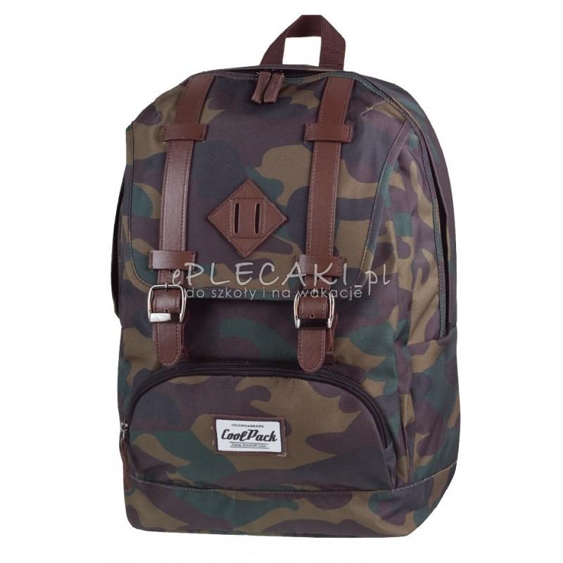 a21917edac3a9 Plecak młodzieżowy vintage CoolPack CP City Camouflage dla dziewczyny
