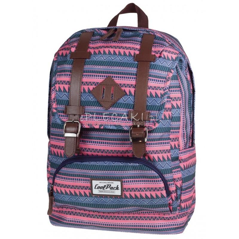 e21fa8765c748 Plecak miejski CoolPack CP vintage w różowe paski CITY SAHARA 1017
