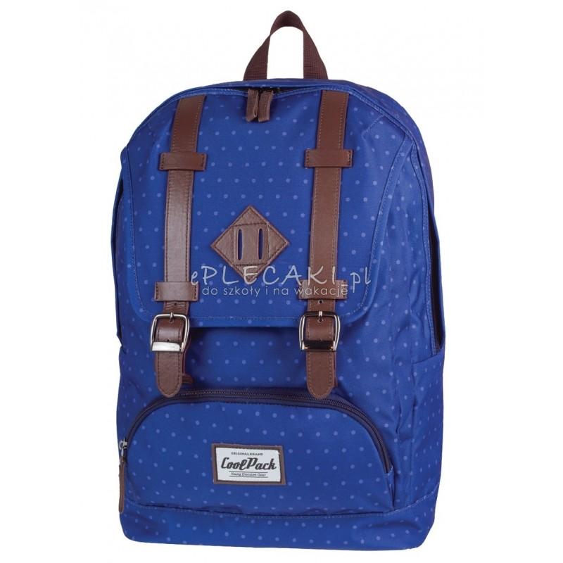 7dba861c459e8 Plecak miejski CoolPack CP vintage niebieskie kropki CITY BLUE DOTS 1024