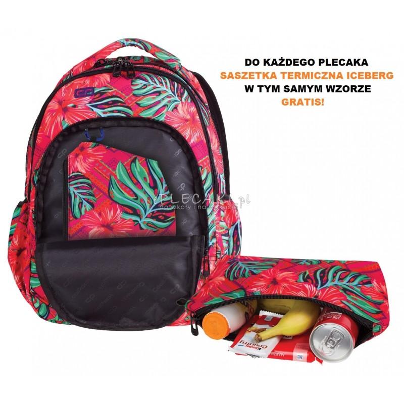 d5161b61a0bd0 ... Plecak dla pierwszoklasistki CoolPack CP egzotyczne kwiaty PRIME  CARIBBEAN BEACH 1062 czerwony plecak dla dziewczynki ...