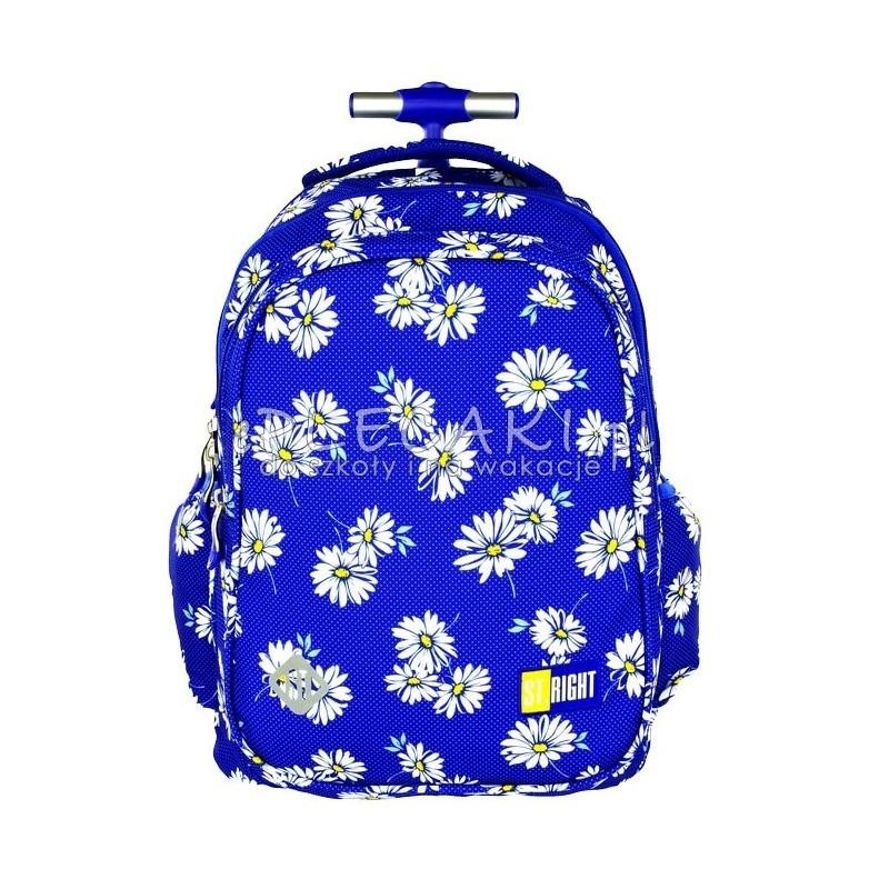 2c0381b118d84 Plecak na kółkach St.Right Daisies stokrotki do szkoły dla dziewczynki
