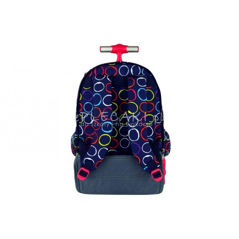 fb7c7d04614b8 ... Plecak na kółkach ST.RIGHT granatowy w kolorowe kółka HOOPS dla  dziewczynki ...