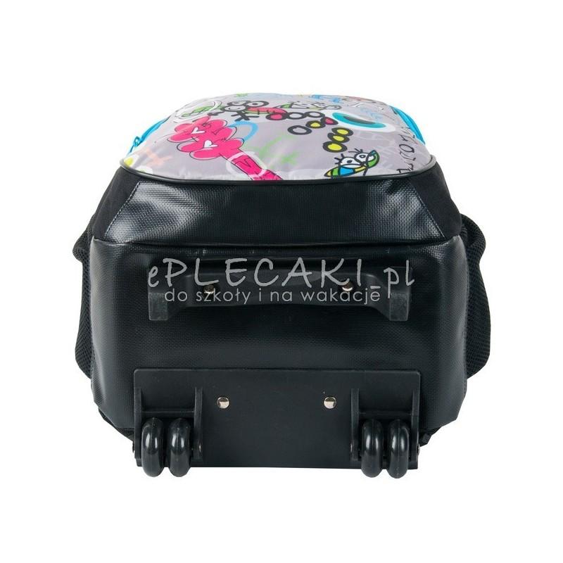 5782142e7abdb ... Szkolny plecak na kółkach Paso Big Dream - Great dla dziewczynki -  czarny z kolorowymi zamkami