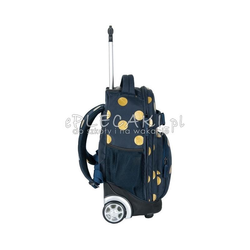 821c8e45038d5 ... Plecak na kółkach Paso Unique Gold Circle - granatowy w złote kropki ...